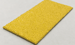 Anti slip safe plate with durable silicon carbide surface