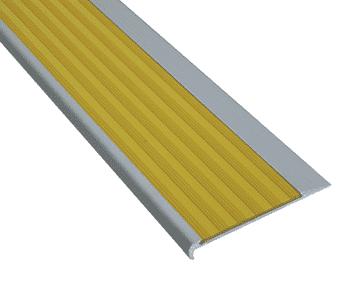 Aluminium stair nosing with PVC insert