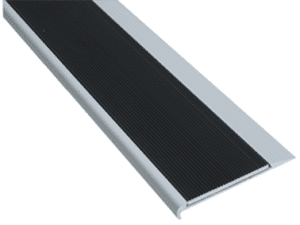 Aluminium stair nosing with corrugated aluminium
