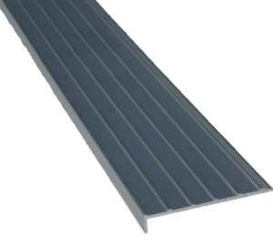 Aluminium rigid stair nosing black