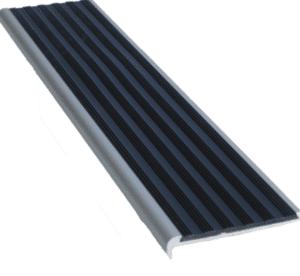 Aluminium stair nosing black